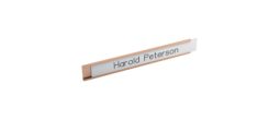 Wall Name Plate Holders