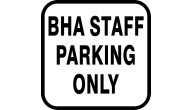 Custom aluminum sign, street sign, parking sign